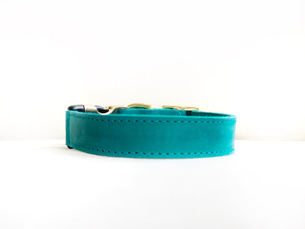Emerald Leather Style Release Collar™