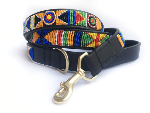 SERENGETI CLASSIC DOG COLLAR & LEASH SET