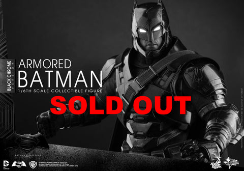 IN STOCK - READY FOR DISPATCH Hot toys  Armored Batman (Black Chrome V... click for more information