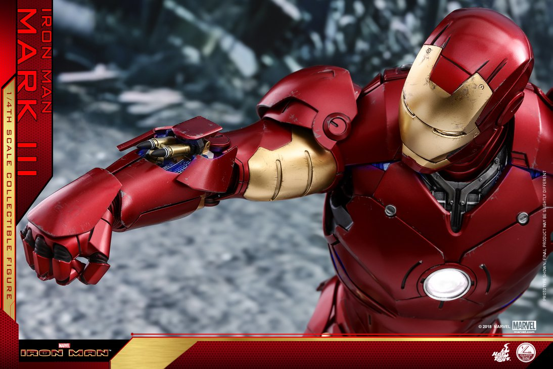 Hot toys QS012 MARK III (DELUXE VERSION) 1/4 Scale - Iron Man