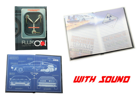 Back to the Future Notebook with Light Flux On