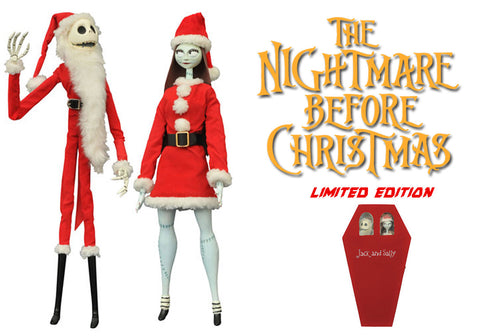 Nightmare before Christmas Coffin Dolls 2-Pack Santa Jack & Sally Limited Edition