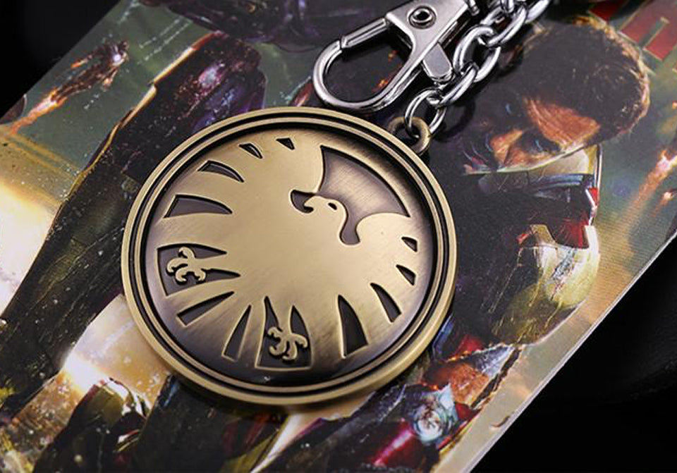 Agents of  S.H.I.E.L.D. 2 colors Hydra Logo keyring