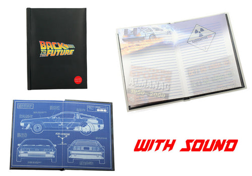 Back to the Future Notebook with Logo
