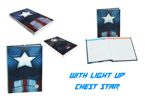 Captain America Civil War Notebook Light Up Captain America Chest