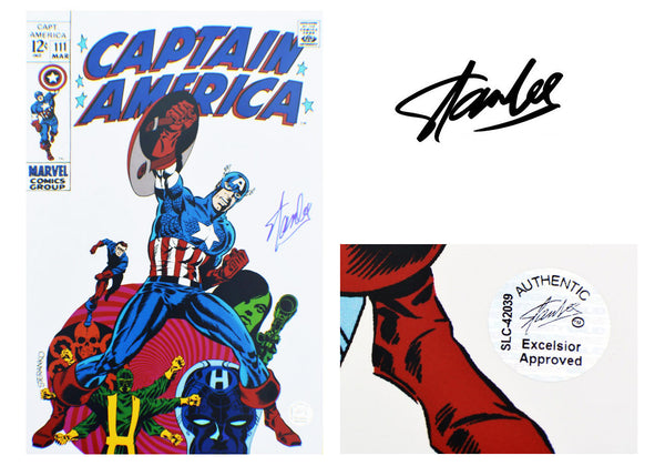 Stan Lee SIGNED Captain America #111 Comic
