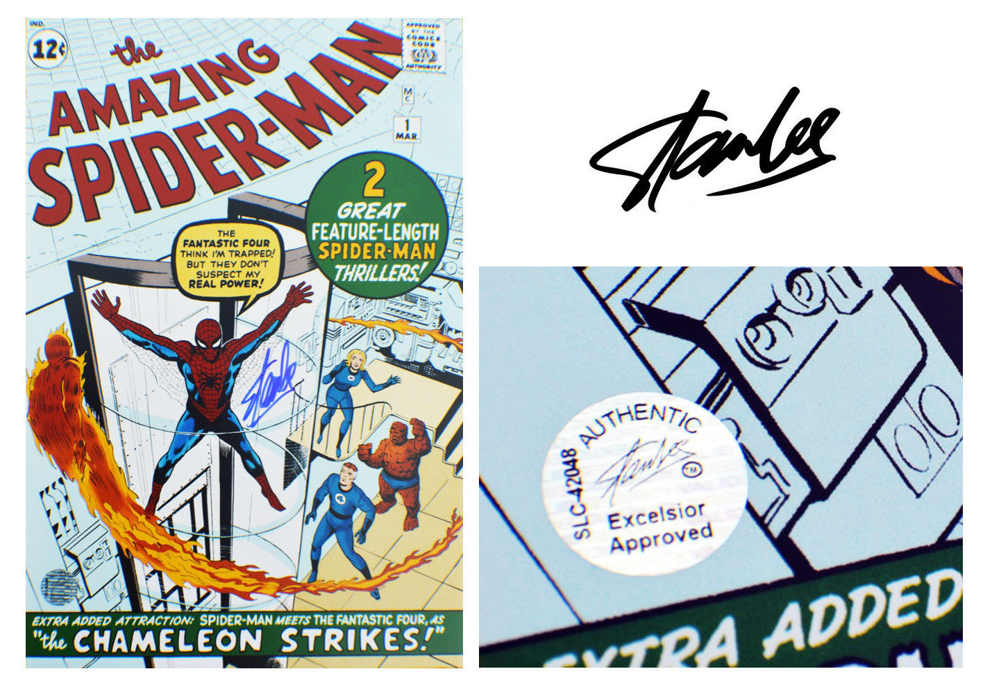 "Stan Lee SIGNED ""The Chameleon Strikes"" Comic"