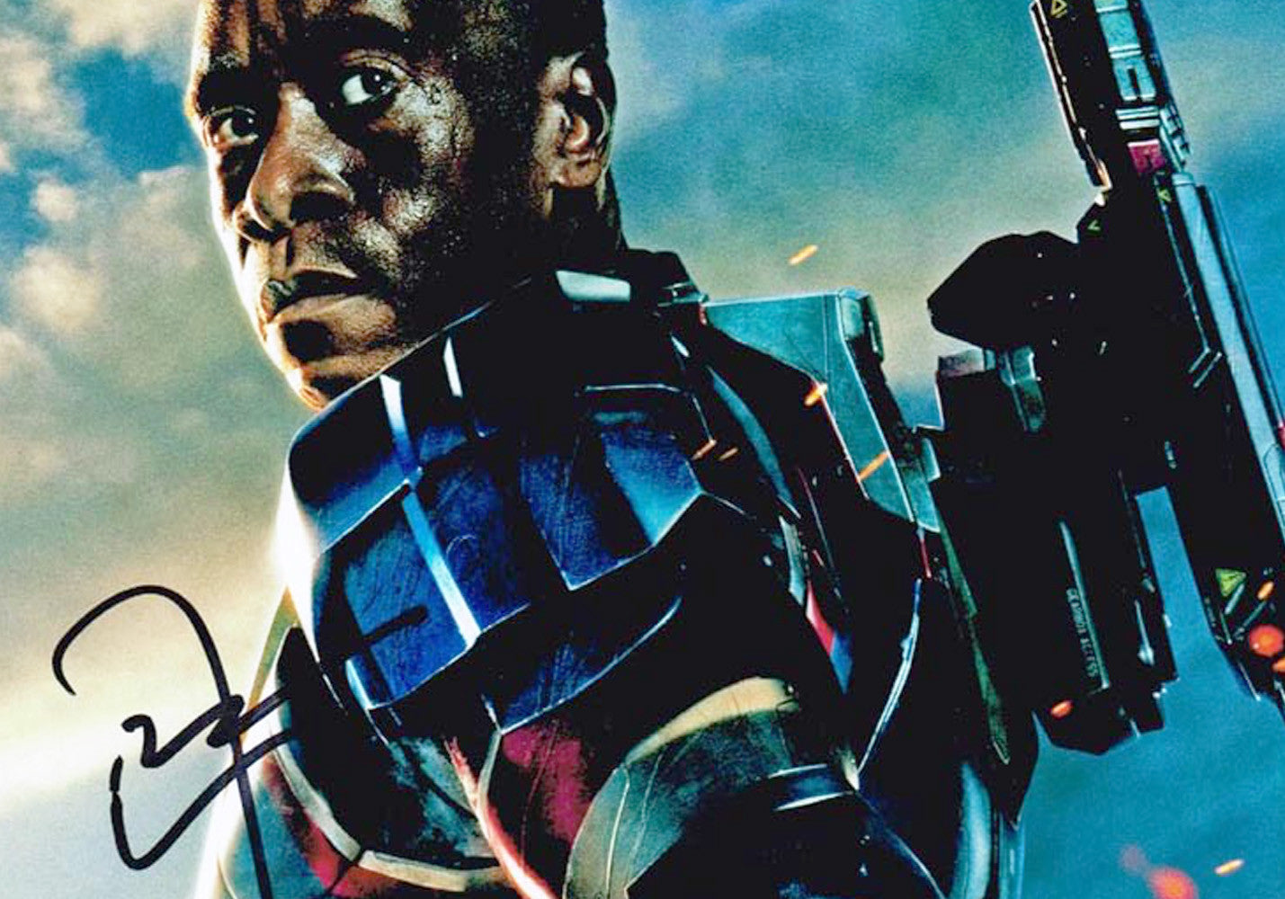 Don Cheadle Signed Iron Man 3 Photo