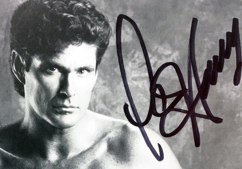 David Hasselhoff Signed Baywatch Photo