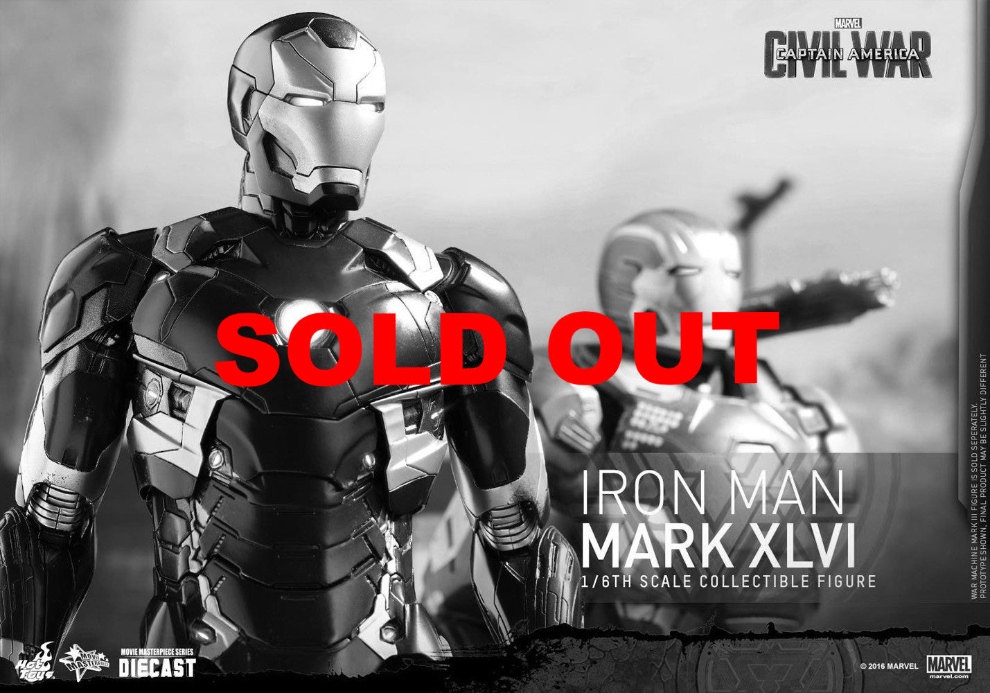Hot Toys MMS353D16 Iron Man XLVI Civil War