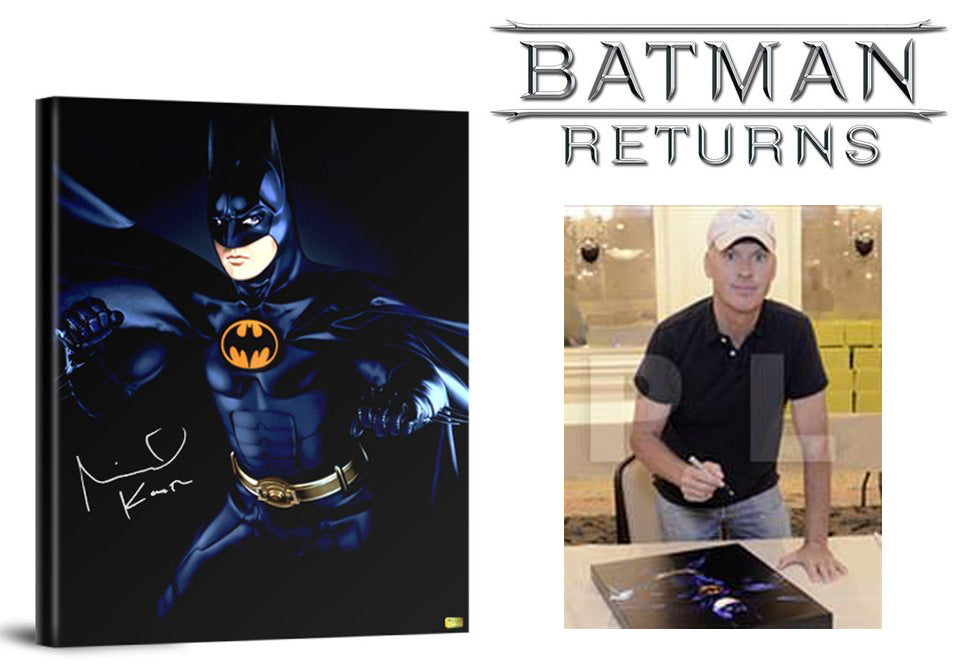 Michael Keaton Autographed Batman Returns Canvas