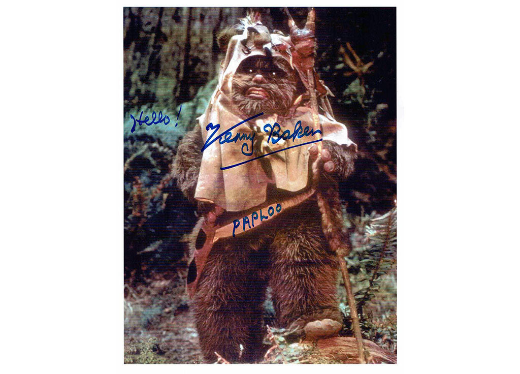 Paploo Star Wars Kenny Baker Signed photo