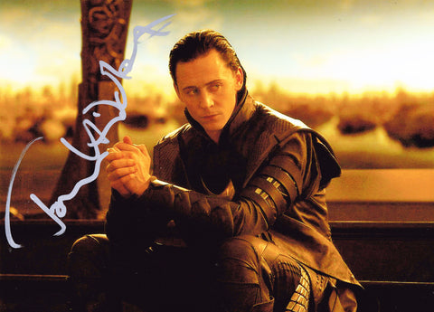 Tom Hiddleston Signed Loki - Thor 2
