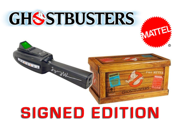 Mattel Ghostbusters PKE Meter  Autographed by Sigourney Weaver