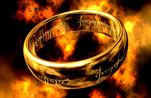 Fellowship Ring of Power Gold the Lord of Ring