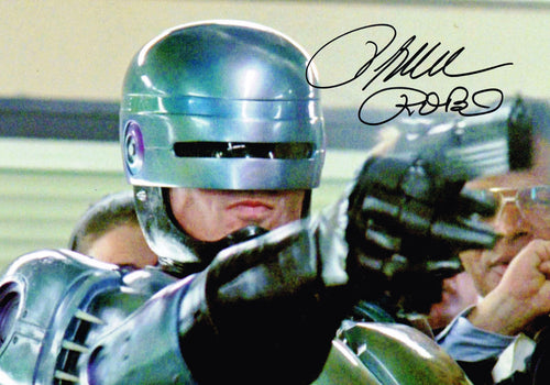 Peter Weller Signed Robocop 1987 Photo