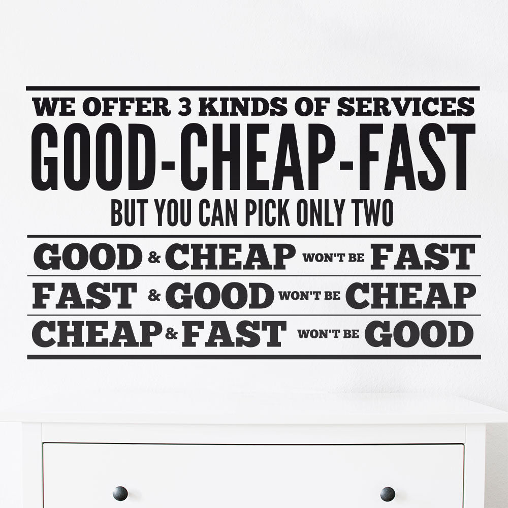 Good Cheap Fast - MR CUP