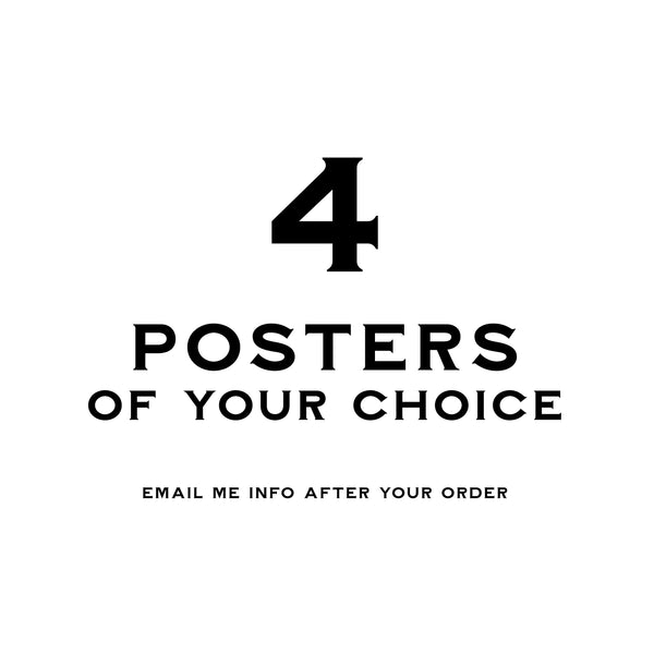 4 Ephemera Posters - 30x40 - MR CUP
