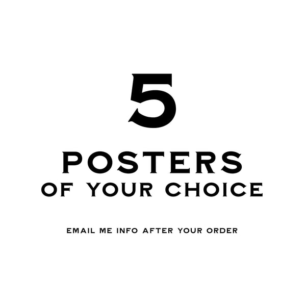 5 Ephemera Posters - 30x40 - MR CUP
