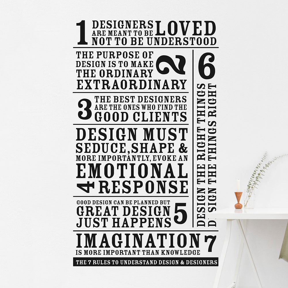 The 7 rules to understand design & designers - MR CUP