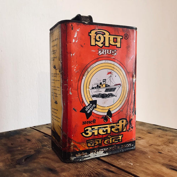 LINSEED India oil metal tin large - MR CUP