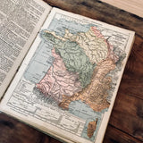 1888 french Geography book - MR CUP