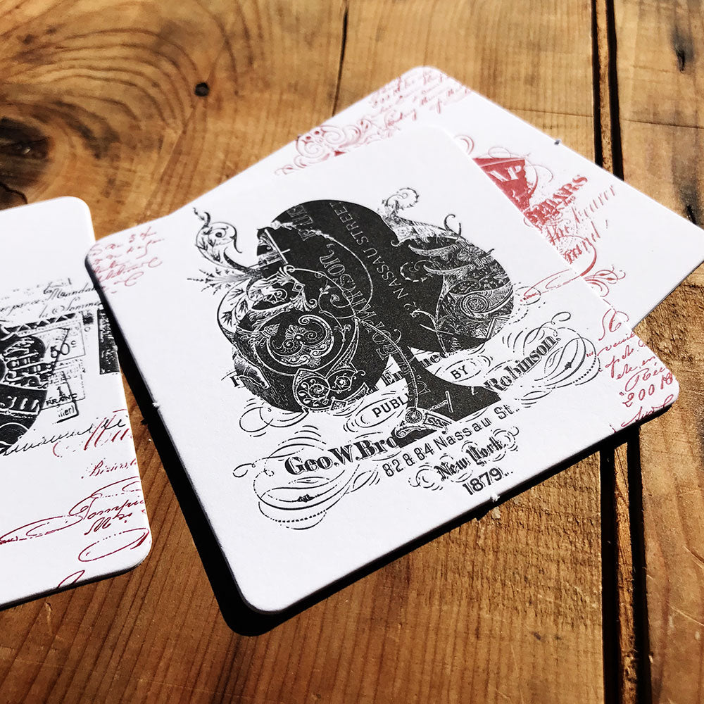 EPHEMERID letterpress coasters - MR CUP