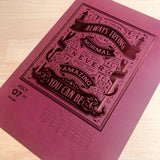2020 letterpress calendar Artist's proof 07 - hot foil - MR CUP