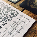 2019 letterpress calendar Artist's proof 05 - MR CUP