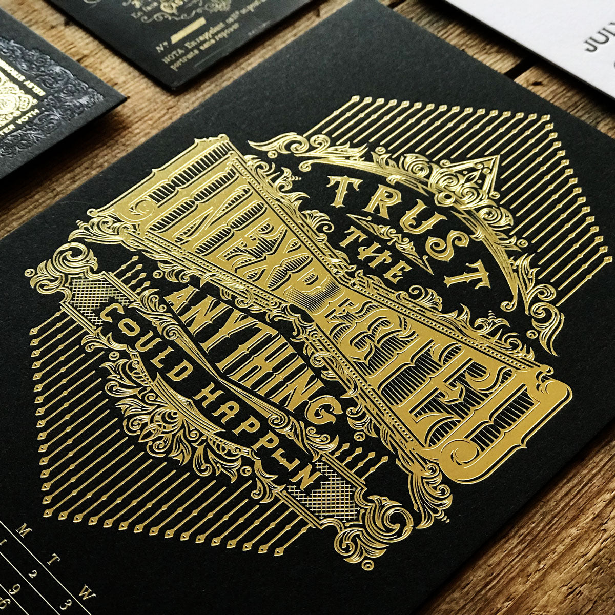 2019 letterpress calendar Artist's proof 07 - hot foil - MR CUP