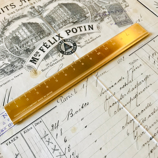 Gold BRASS Ruler