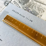 Gold BRASS Ruler - MR CUP