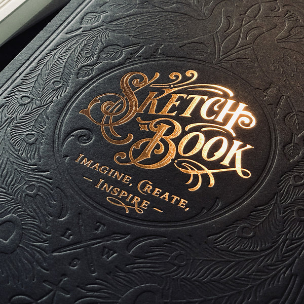 Letterpress Sketchbook - Black & gold