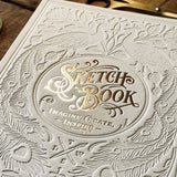 Letterpress Sketchbook - White & gold - MR CUP