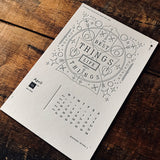 2017 letterpress calendar Artist's proof 04 - MR CUP