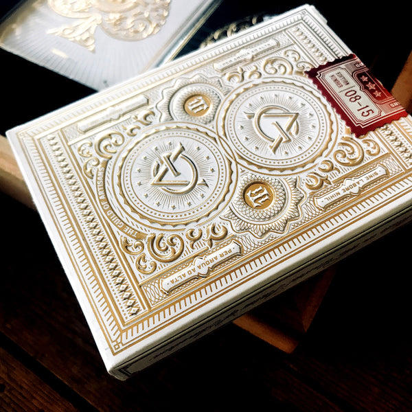 White Artisans playing cards deck