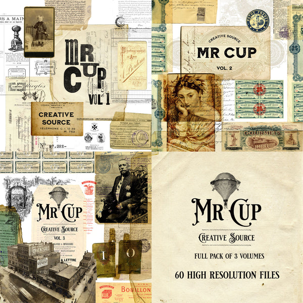Mr Cup Creative Source . PACK . Vol 1-2-3 - MR CUP