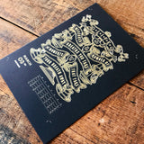 2020 letterpress calendar Artist's proof 03 - hot foil - MR CUP