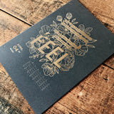 2020 letterpress calendar Artist's proof 04 - hot foil - MR CUP