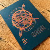 2020 letterpress calendar Artist's proof 05 - hot foil - MR CUP