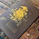 2020 letterpress calendar Artist's proof 08 - hot foil - MR CUP