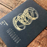 2020 letterpress calendar Artist's proof 10 - hot foil - MR CUP