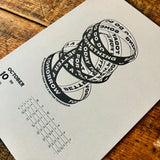 2020 letterpress calendar Artist's proof 10 - MR CUP
