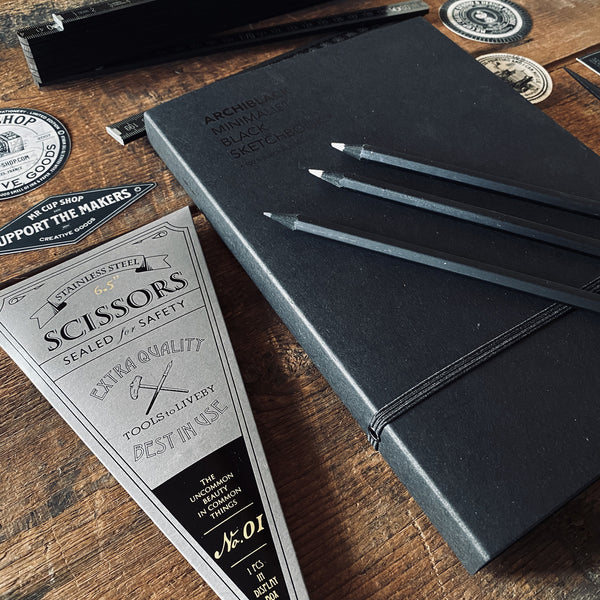 ARCHIBLACK sketchbook & tools set
