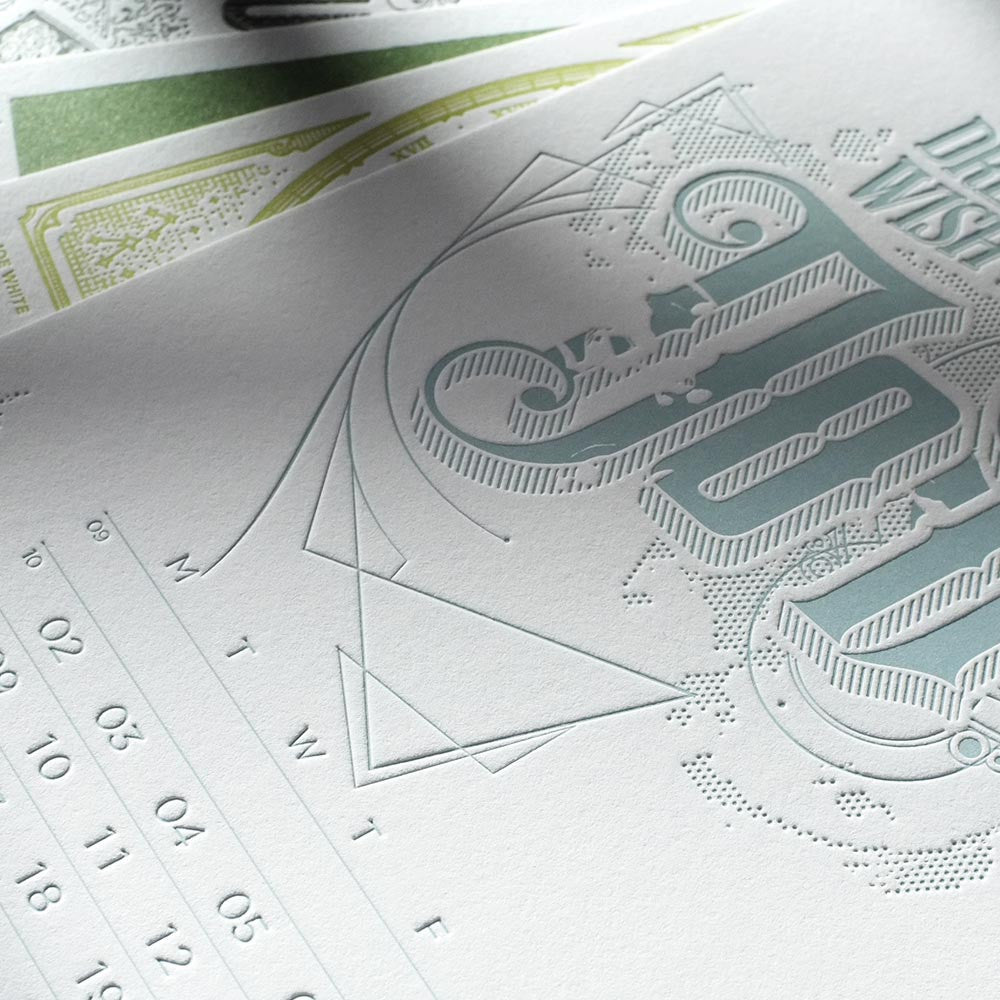 2015 Letterpress calendar . deluxe edition - MR CUP