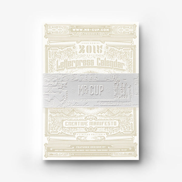 <h7>SOLD-OUT</h7><br>2015 Letterpress calendar . deluxe edition