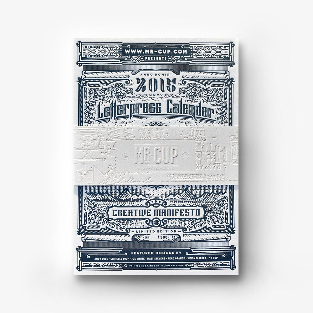<h7>SOLD-OUT</H7><br>2015 Letterpress calendar normal edition