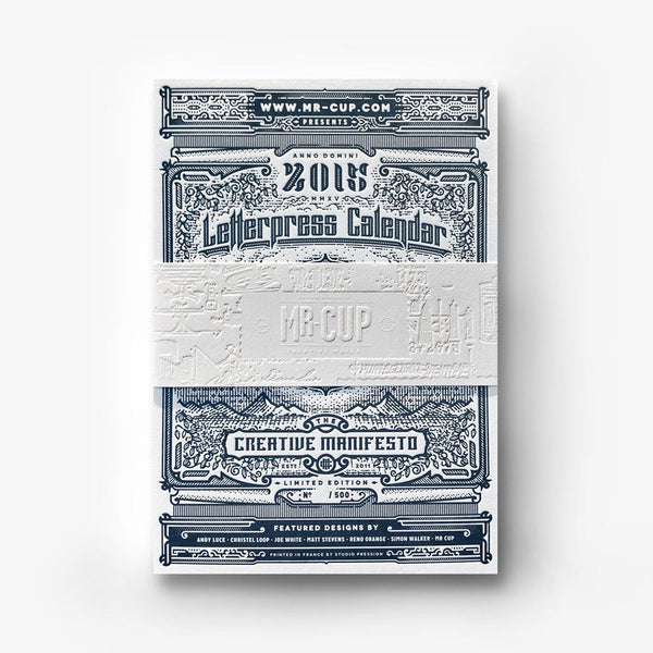 2015 Letterpress calendar normal edition - MR CUP