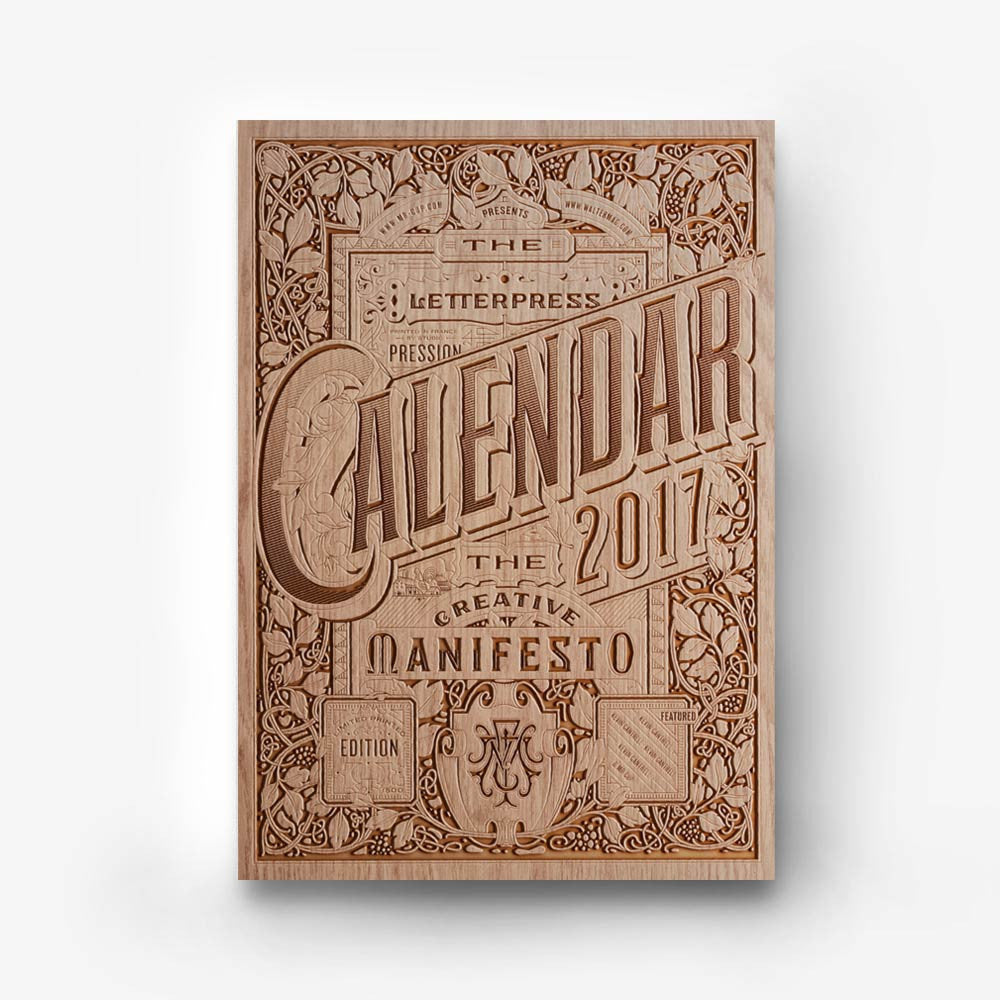 2017 Calendar wood cover deluxe edition - MR CUP