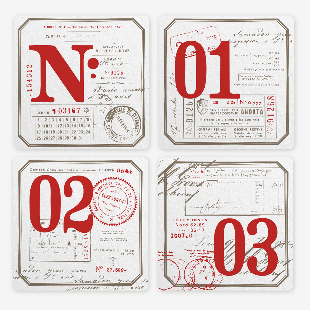 Letterpress coasters limited edition Wood box edition - MR CUP